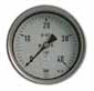 Stainless Steel unfilled Pressure Gauge back mounted