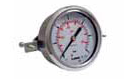 filled Pressure gauge back mounted with back clamp